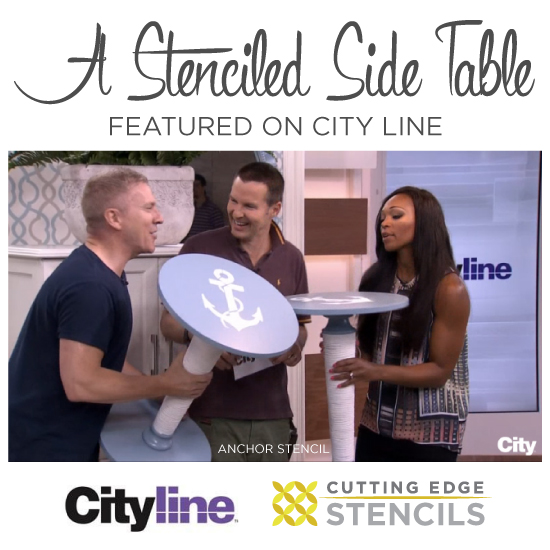 A Stenciled Side Table Featured On CityLine