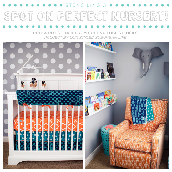Aqua And Orange Nursery Idea Stenciling A Spot On Perfect