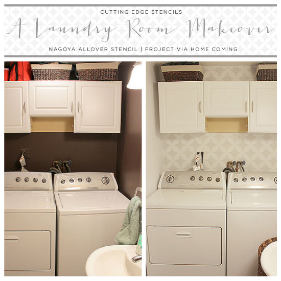 A Stenciled Laundry Room Makeover