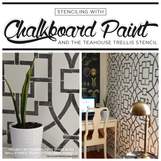 Stenciling With Chalkboard Paint