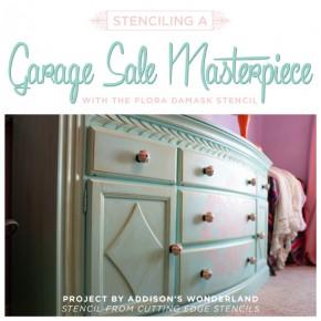 Stenciling A Garage Sale Masterpiece