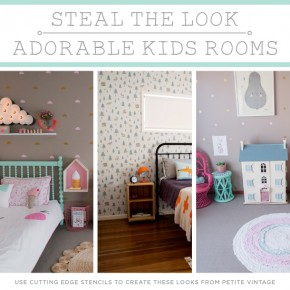 stenciled kids bedroom Archives Stencil Stories Stencil Stories