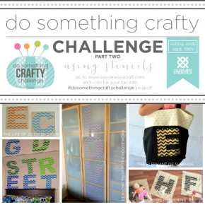 Do Something Crafty Challenge Using Stencils: Voting Begins