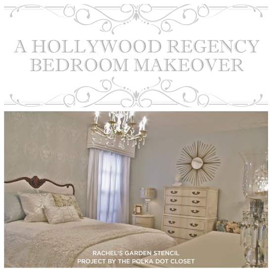 A Hollywood Regency Bedroom Makeover Stencil Stories