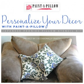 Paint-A-Pillow shares a DIY stenciled accent pillow using the Japanese Peonies stencil. http://paintapillow.com/index.php/japanese-peonies-paint-a-pillow-kit.html