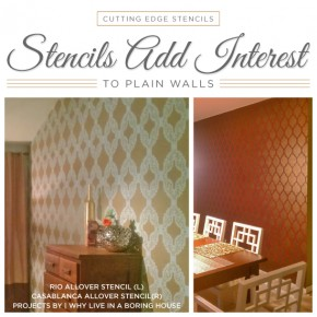 Stencils Add Interest To Plain Walls