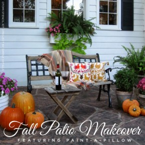 Fall Patio Makeover Featuring Paint-A-Pillow