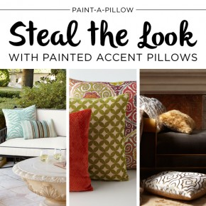 Steal the Look with Painted Accent Pillows