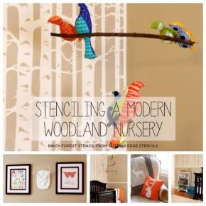 Stenciling A Modern Woodland Nursery