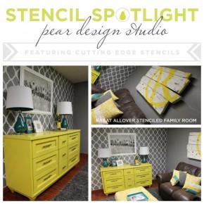 Stencil Spotlight: Pear Design Studio
