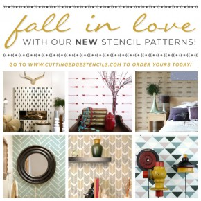 Cutting Edge Stencils shares its NEW stencil collection for Fall 2014.http://www.cuttingedgestencils.com/wall-stencils-stencil-designs.html
