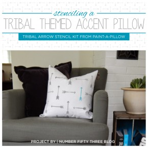 Paint-A-Pillow is on Target With the Tribal Arrow Trend