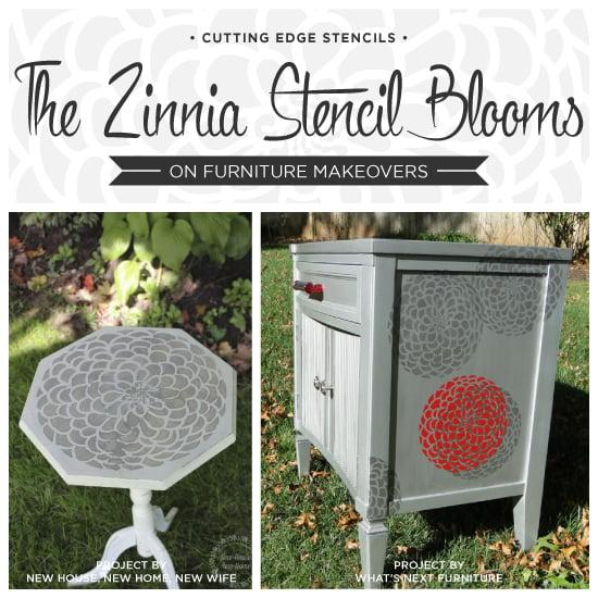 diy furniture makeover ideas. The Zinnia Stencil Blooms On Furniture Makeovers · DIY Home Decor IdeasInspirationStenciled Diy Makeover Ideas