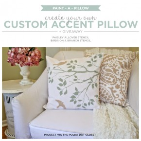 Create Your Own Custom Accent Pillow + Giveaway