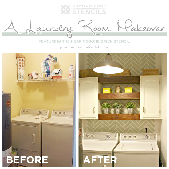 laundry room ideas' articles at stencil stories