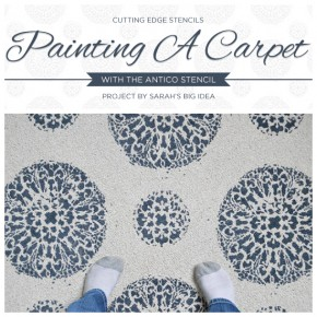 Painting a Carpet with the Antico Stencil