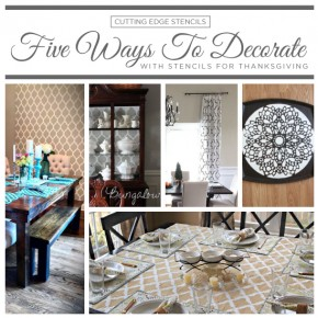 Five Ways To Decorate With Stencils For Thanksgiving
