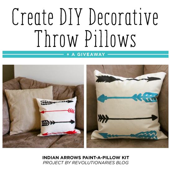 Diy Painted Throw Pillows : Create DIY Decorative Throw Pillows + A Giveaway - Stencil Stories Stencil Stories