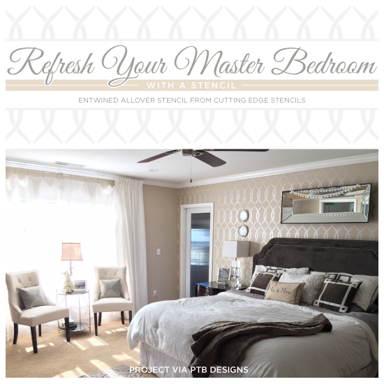Diy Ways Accent A Master Bedroom Wall: Refresh Your Master Bedroom With A Stencil