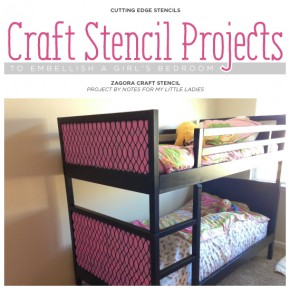 Cutting Edge Stencils shares DIY stenciled craft ideas for a girl's bedroom. http://www.cuttingedgestencils.com/zagora-craft-stencil.html