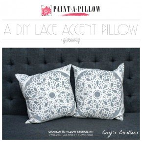 A DIY Lace Accent Pillow + Giveaway