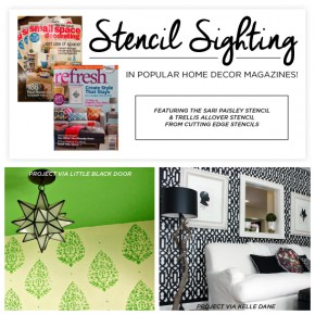 Stencil Sighting In Popular Home Decor Magazines!