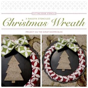 A Nagoya Stenciled Christmas Wreath