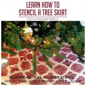 Learn How to Stencil A Tree Skirt