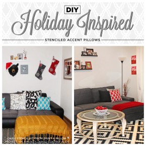 Stenciling Holiday Accent Pillows