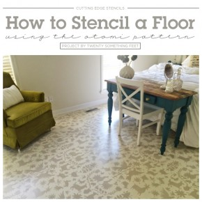 How to Stencil A Floor Using the Otomi Pattern