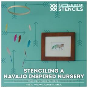 Stenciling a Navajo Inspired Nursery