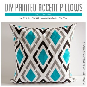 DIY Painted Accent Pillows & A Giveaway!