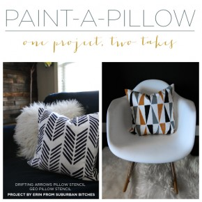Paint-A-Pillow: One Project, Two Takes