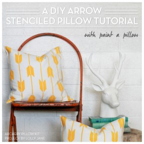 A DIY Arrow Stenciled Pillow Tutorial