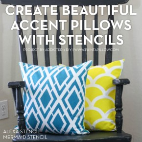 Create Beautiful Accent Pillows With Stencils