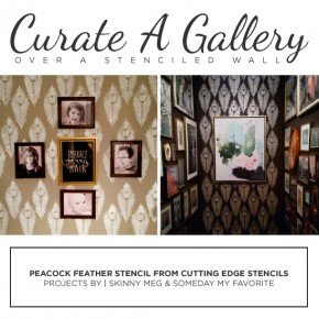 Curate A Gallery Over A Stenciled Wall