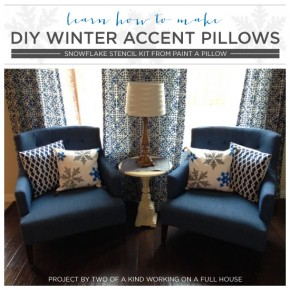 Learn How To Make DIY Winter Accent Pillows