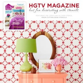 HGTV Magazine Has Fun Decorating With Stencils