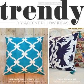 Trendy DIY Accent Pillow Ideas