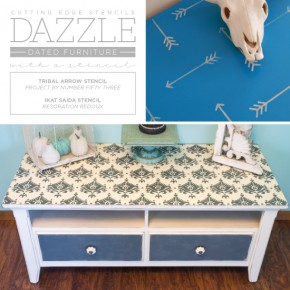 Dazzle Dated Furniture With A Stencil