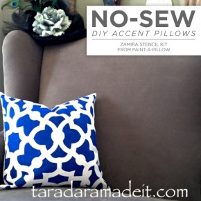 Cutting Edge Stencils shares how to DIY painted accent pillow using the Zamira Paint-A-Pillow. http://paintapillow.com/index.php/zamira-paint-a-pillow-kit.html