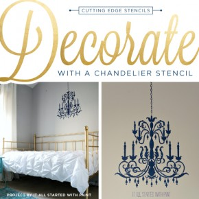 Decorate With A Chandelier Stencil