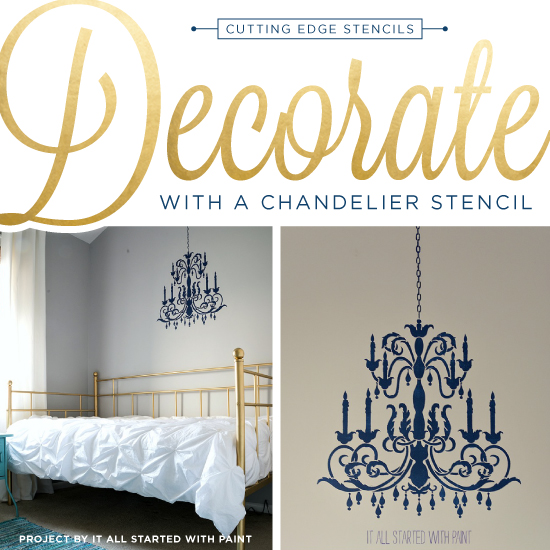 Decorate with a chandelier stencil aloadofball Image collections