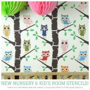 Cutting Edge Stencils shares new trendy nursery wall stencil patterns. http://www.cuttingedgestencils.com/nursery-stencils-walls.html