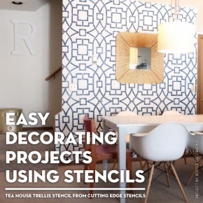 Cutting Edge Stencils shares easy DIY decorating projects using stencils. http://www.cuttingedgestencils.com/tea-house-trellis-allover-stencil-pattern.html