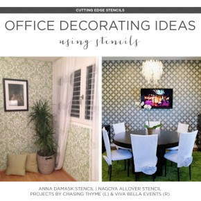 Office Decorating Ideas Using Stencils