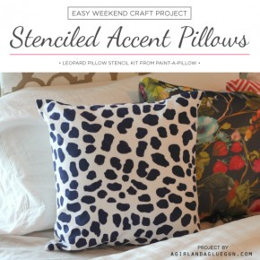 Cutting Edge Stencils shares an easy weekend craft idea using Paint-A-Pillow to make DIY accent pillows. http://paintapillow.com/index.php/leopard-skin-paint-a-pillow-kit.html