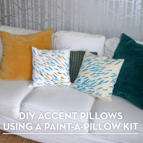 Cutting Edge Stencils shares DIY stenciled accent pillow using the Fish School Paint-A-Pillow stencil kit. http://paintapillow.com/index.php/fish-school-paint-a-pillow-kit.html