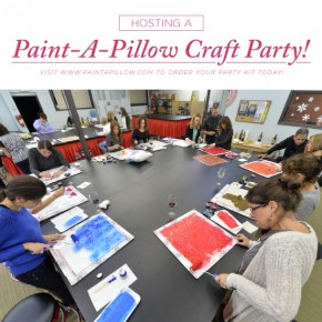 How To Host a Paint-A-Pillow Craft Party!