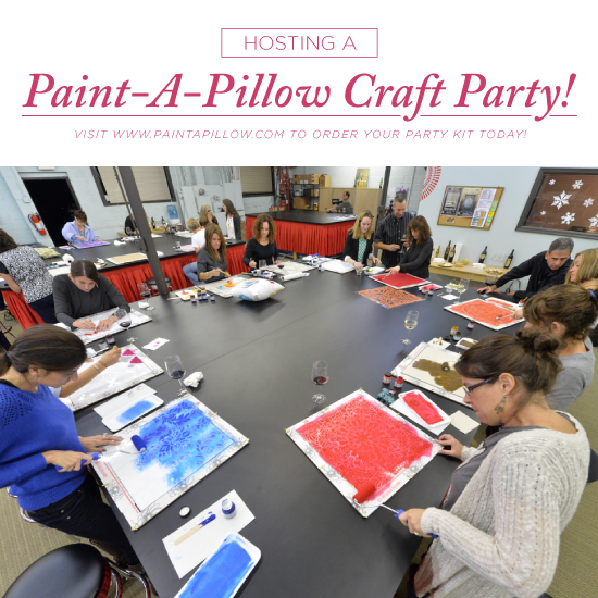 How To Host A Paint A Pillow Craft Party